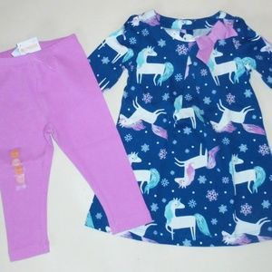 Gymboree Unicorn Dress Leggings 12-18 18-24 NEW
